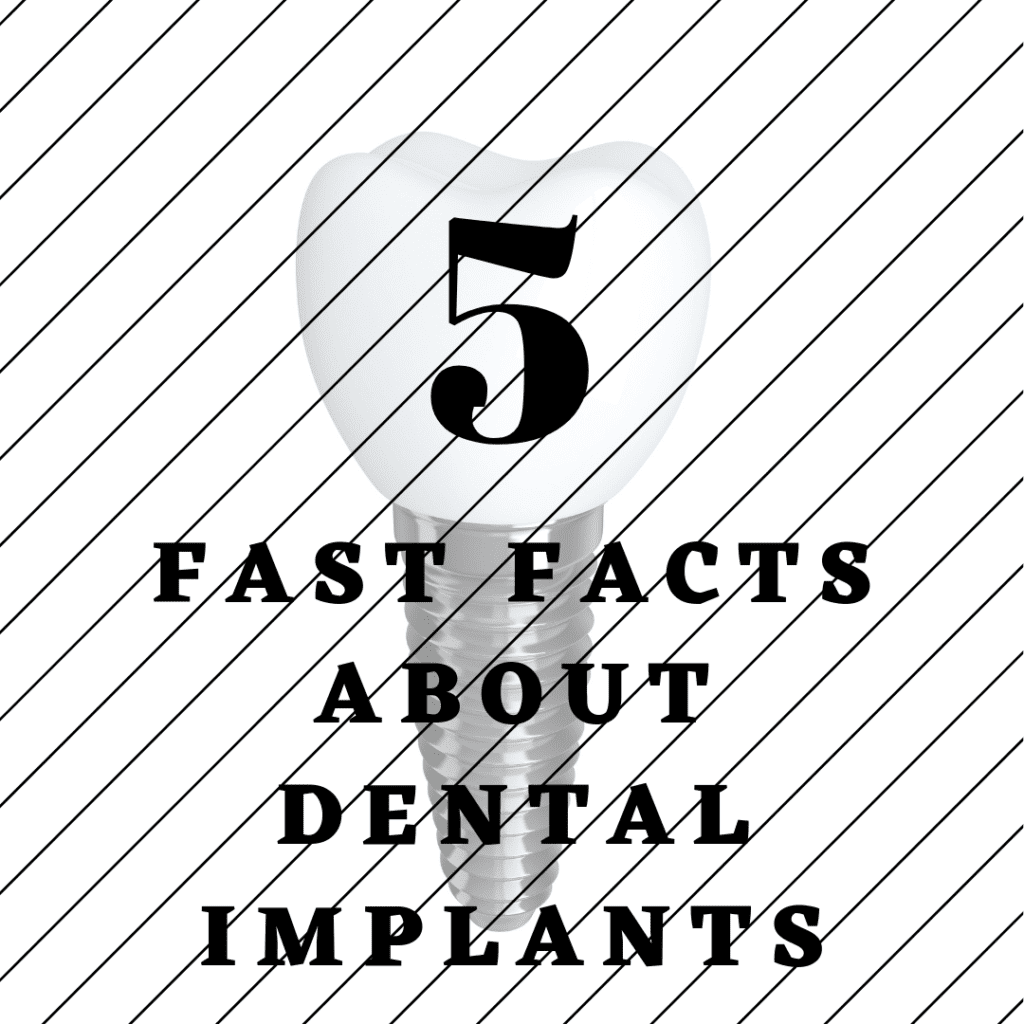 "Title banner for ""5 fast facts about dental implants"""