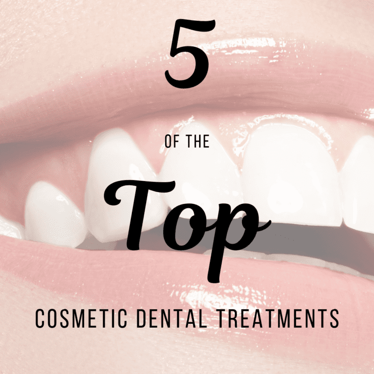 "Title banner for ""5 of the top cosmetic dental treatments"""