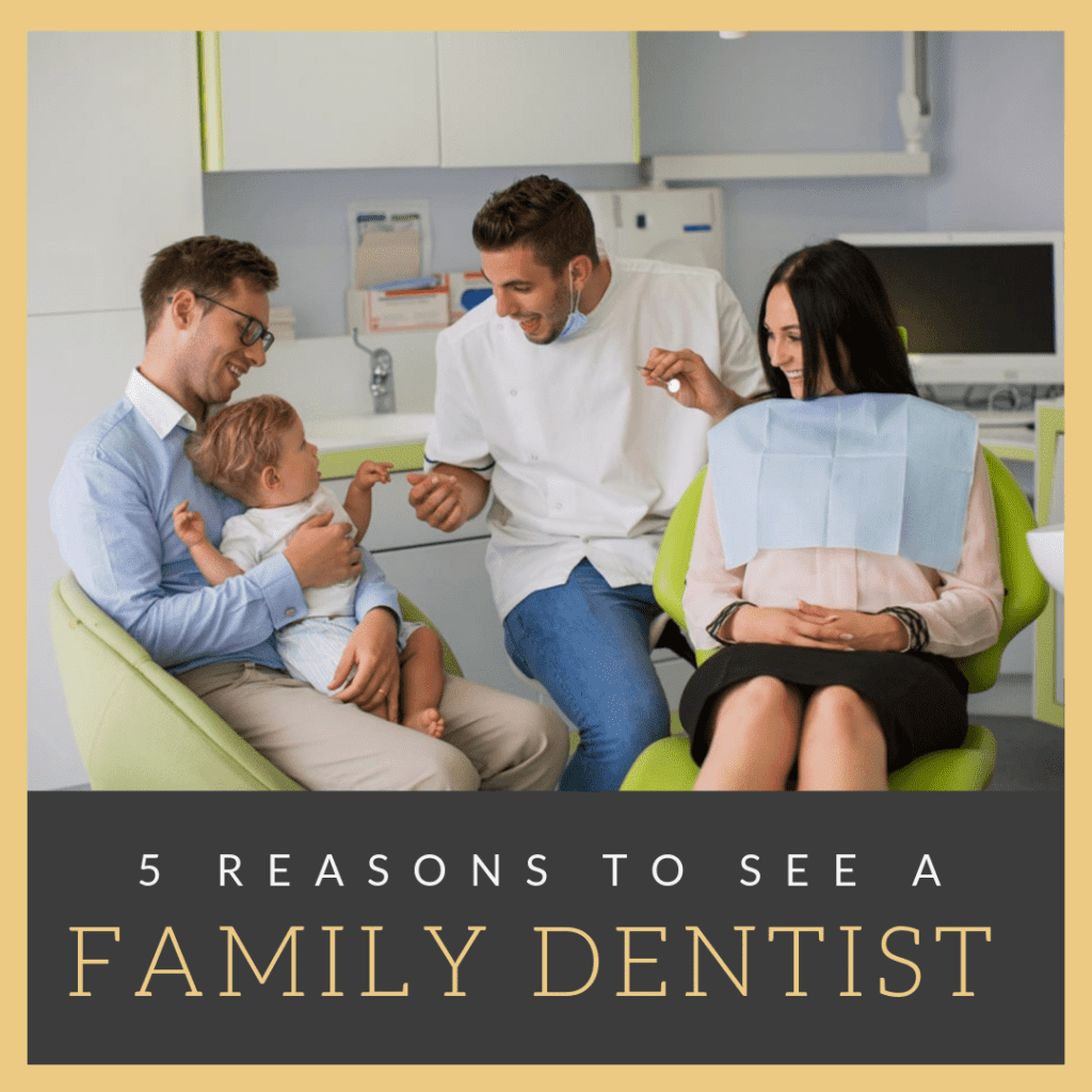"Title banner for ""5 Reasons to See a Family Dentist"""